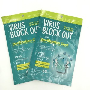 Easy to Carry Disinfection Card Air Sterilizing Virus Shut out Card for Daily Protection Disinfection Sterilizing Card