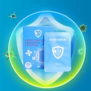 60 days chlorine dioxide clo2 portable air deodorization bag card
