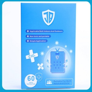 Clo2 anti-virus health care portable lanyard air sterilization protection card