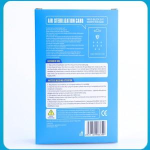 60 days virus blocker card virus shut out chlorine dioxide clo2 portable air sterilization card