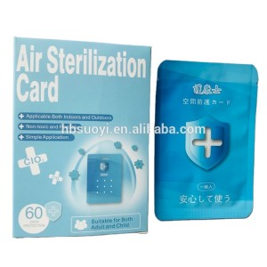 Air protection Card Doctor Chlorine Dioxide (clo2) Removing harmful air Clo2
