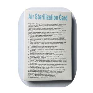 Quality chlorine dioxide ClO2 card for sale