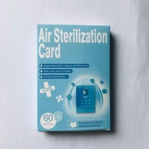 Antibacterial chlorine dioxide card air kill VIRU BLOCKER sterilize card VIRUS BLOCKER removing bag