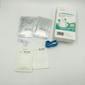 Virus blocker air doctor chlorine dioxide clo2 gas disinfection sterilization card